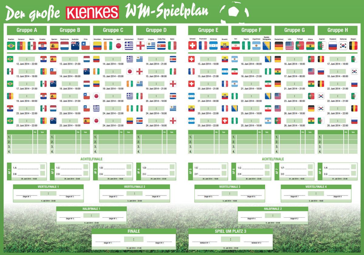 KLENKES WM Spielplan zum Ausdrucken   Meldungen   klenkes.de
